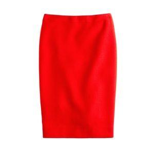 J. Crew Tall No. 2 pencil skirt double-serge wool